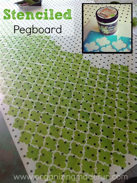 hometalk   put pegboard   block wall  cover