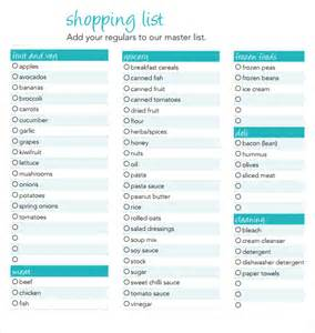 Shopping Lists Template by Doc 431560 Shopping Lists Template Free Printable