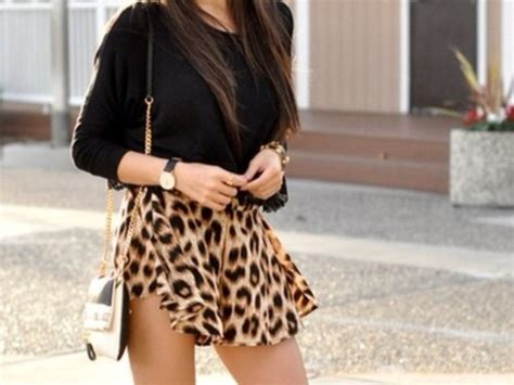 Skort Celana Pendek Korea White Lace 2 7 Y leopard print shorts skorts casual sports ebay