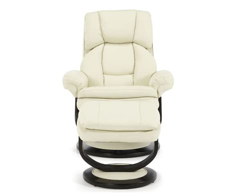 cream recliner chairs finley cream bonded leather recliner chair frances hunt