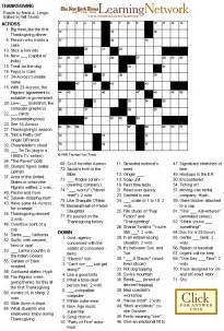 thanksgiving crossword puzzles printable crosswords thanksgiving