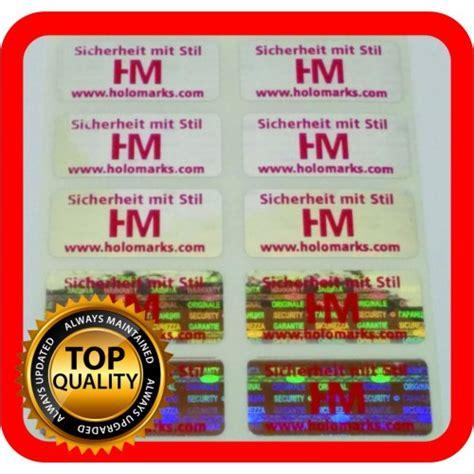 Hologramm Etiketten by Hologramm Etiketten Mit Ihrem Logo In Rot 32x15mm