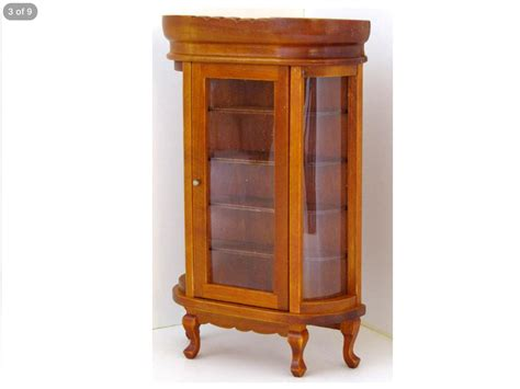 dolls house display cabinet miniature dolls house furniture 12th scale wooden display cabinet 008 ebay