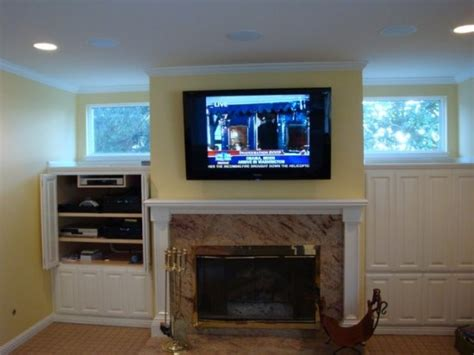 tv above fireplace tv installation specials tv mount installation wires hidden
