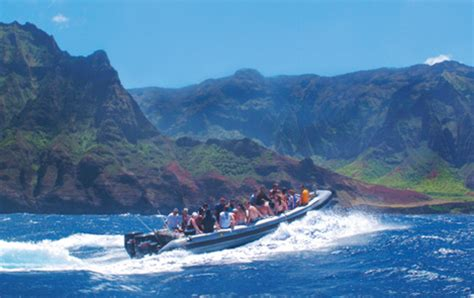napali coast boat tours south shore scenic boat tours in kauai party aloha
