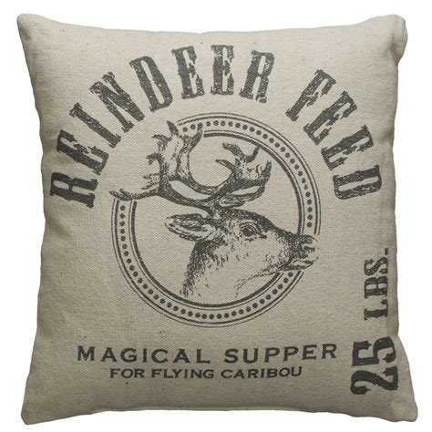 primitives by kathy flour sack pillow reindeer feed 19934