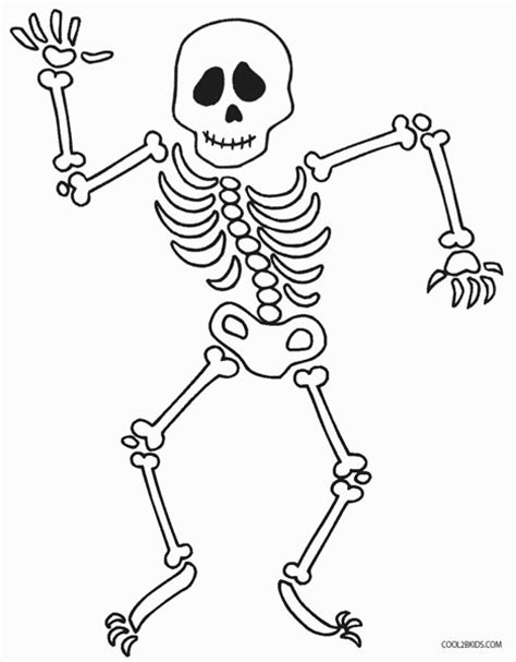 Printable Skeleton Coloring Pages For Kids Cool2bkids Skeleton Color Page