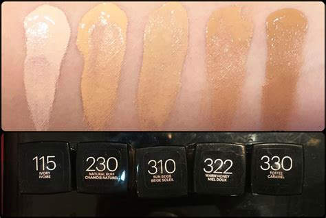 Maybeline Fit Me Warm Beige maybelline fit me matte poreless foundation swatches