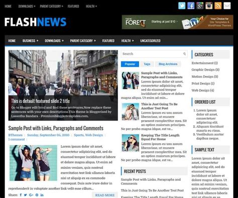 flashnews downloads premium blogger templates