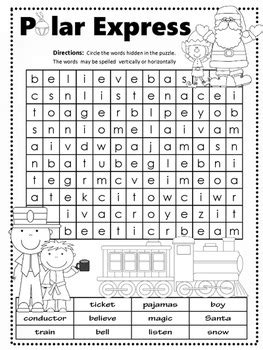 The Polar Express Word Search Pack - 3 Levels by Windup
