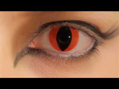 red cat eye coloured contact lenses youtube