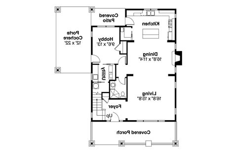 Bungalow House Plans Blue River 30 789 Associated Designs Floor Plan Elevation Bungalow House