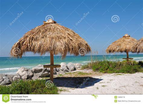 Tiki Hut On Beach Tiki Hut On The Beach Royalty Free Stock Image Image