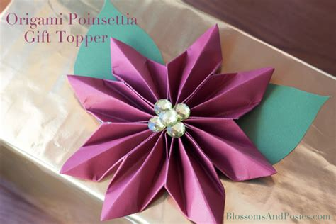 How To Make Paper Poinsettia Flowers - easy paper flower topper tutorial handmade paper flowers