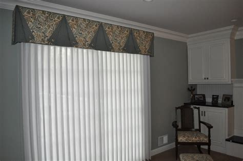 Vertical Blinds Valance a smart valance with ado wrap sheers wrapped around vertical blinds easy cleaning if you