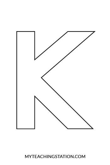 letter k template letter k template www pixshark images galleries