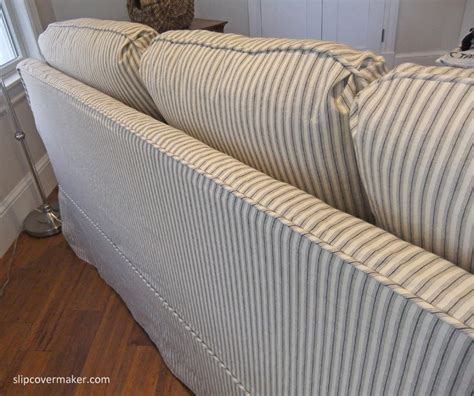 slipcover material sleeper sofa slipcover in ticking stripe the slipcover maker