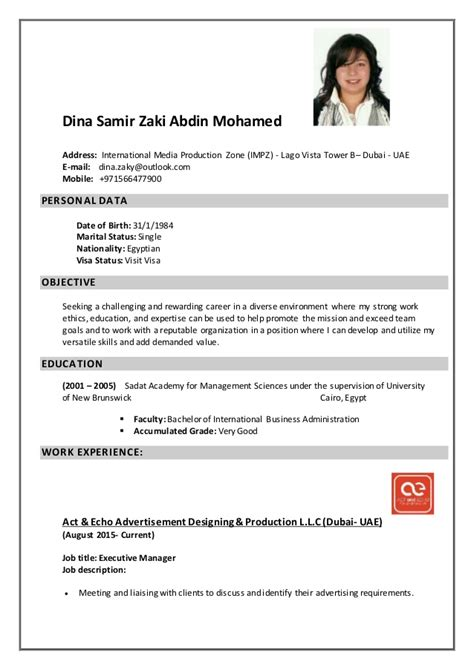 dina s description cv
