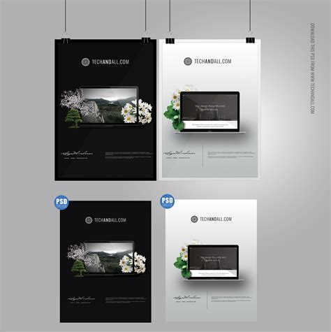 photo gallery psd template a4 poster mockup frame mockup psd welcome to tech all
