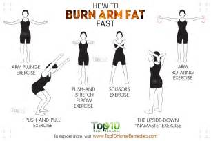 how to burn arm fat fast top 10 home remedies