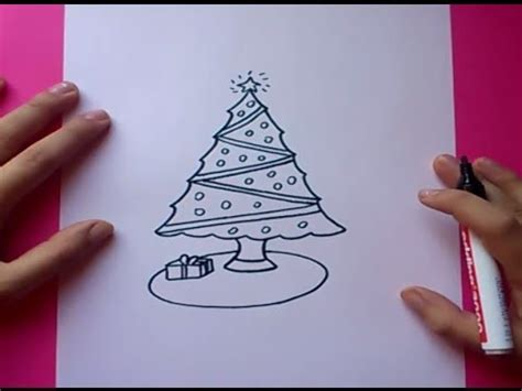 como dibujar un arbol de navidad paso a paso how to draw