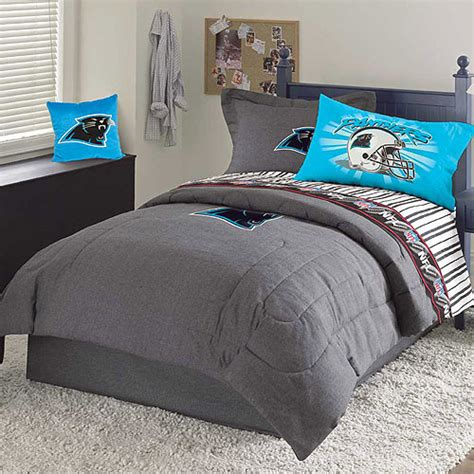 panthers bedding carolina panthers nfl team denim twin comforter sheet set