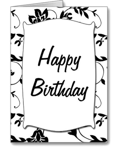 printable birthday cards black and white card invitation design ideas cool black and white