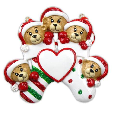 or834 5 5 bears clinging to stocking personalized