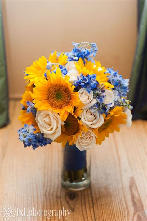 Wedding Flower Packages Near Me by Sunflower Wedding Bouquet At Le San Michele Wedding Near