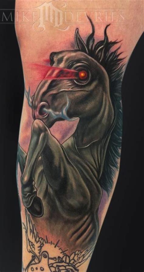 eye tattoo for horses dark horse head with glowing eyes tattoo tattooimages biz