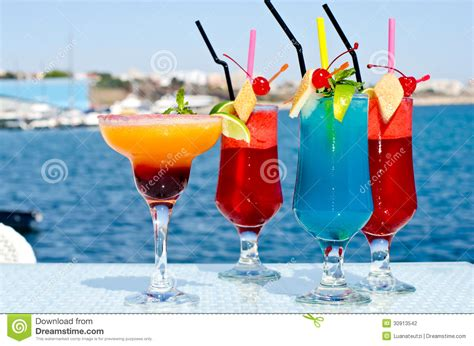 summer colored fruit cocktail stock photography image