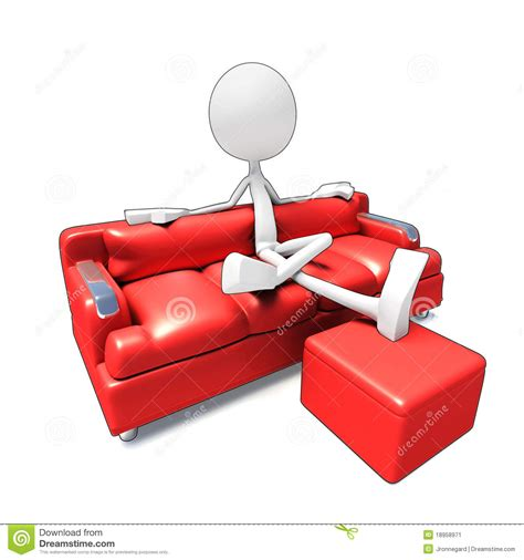 sofa for watching tv young man watch 3d movie at home stock image