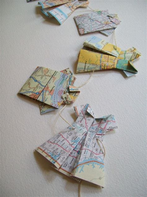 Map Origami Paper - extended road trip folded map dress and map shirt