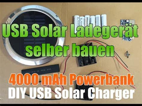 solar usb lader selber bauen diy solar usb charger