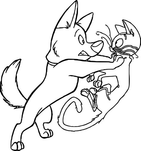 and cat coloring pages bolt cat where coloring pages wecoloringpage