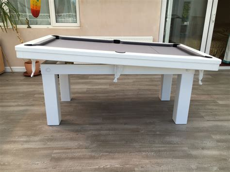 white pool table dining table modern 6ft pool dining table in white silver pool