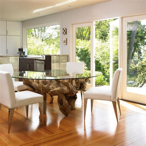 driftwood kitchen table a royal view modern dining room other metro by the sky is the limit design
