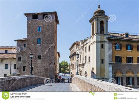 houses in trastevere rome italy stock photo image