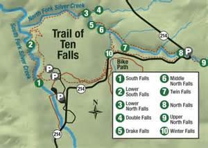 silver falls oregon map trail of ten falls map democratherald