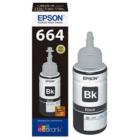 Tinta Botol Epson T6641 Tinta Epson T6641 Negra Original L200 L210 L355 L555