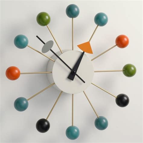 Ceiling Fans With Chandeliers George Nelson Ball Clock Multi Color By Vitra Midcentury