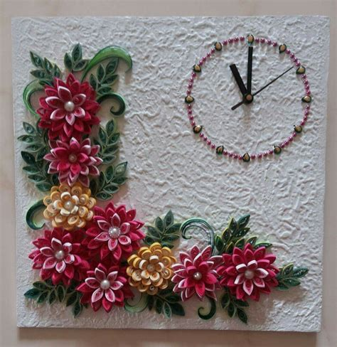 quilling clock tutorial quilled wall clock paper craft pinterest wall