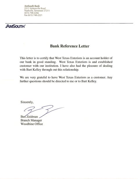 Bank Letter Of Recommendation Reference Letter From Bank How Do I Get One