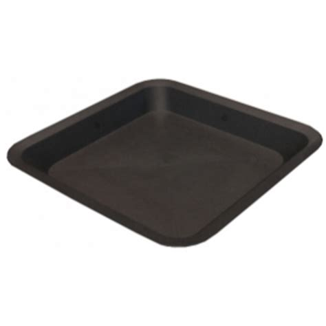 black square plant pots black square plant pot saucer 18 litre