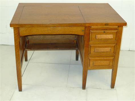 mission desk for sale mission arts crafts oak single pedestal