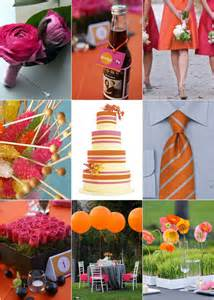 orange wedding colors wedding blogs orange and pink wedding colors
