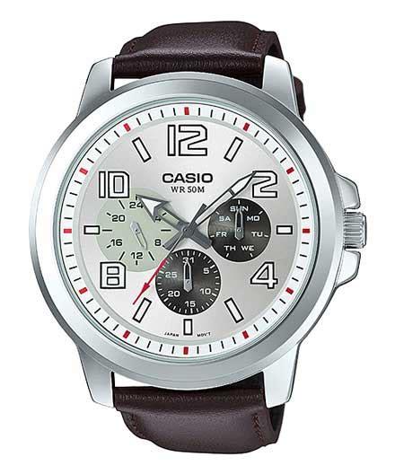 Harga Jam Tangan Merk Genuine Leather jam tangan casio pria seri x mtp x300l