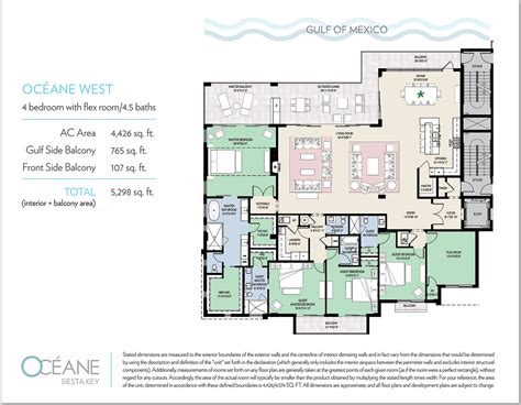 waterfront key floor plan floorplans oceane siesta key waterfront condos siesta