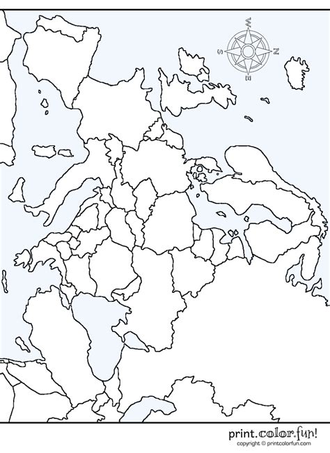 coloring pages map europe map of europe coloring page print color fun