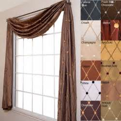 curtain scarf valance helena 6 yard scarf valance contemporary throws by